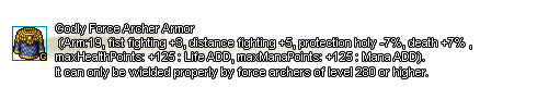 Godly Force Archer Armor